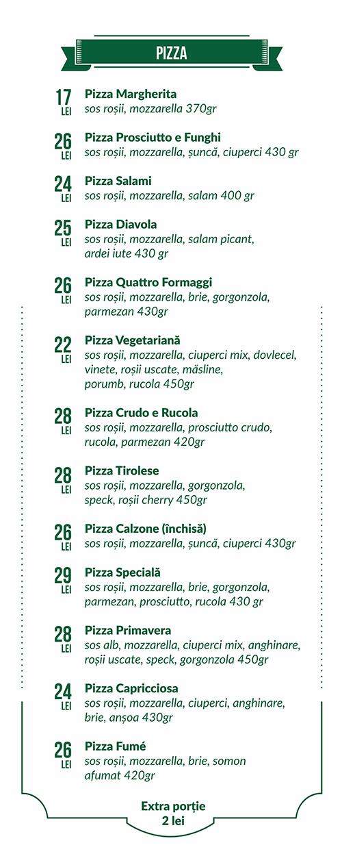 pizza menu decebal